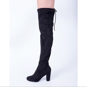 Knee High Boots w Tie Back